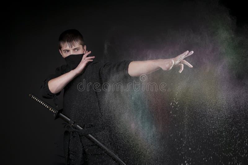Ninja - szpieg, sabotażysta. zdjęcia royalty free
