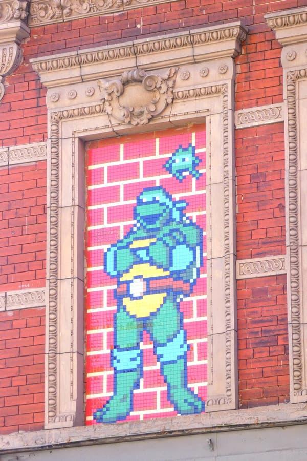 Ninja Turle Mosaic arkivfoto