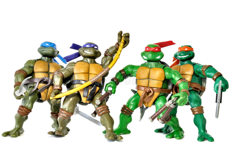 Ninja Turtles royaltyfri fotografi