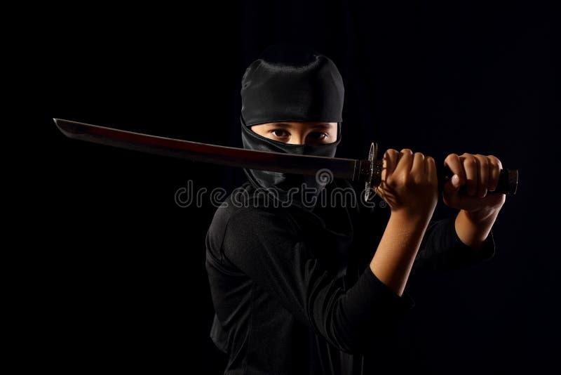 Ninja unge arkivfoto