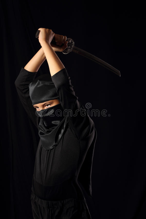 Ninja unge royaltyfria foton