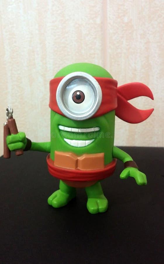 Ninja verde Turtle Minion imagens de stock