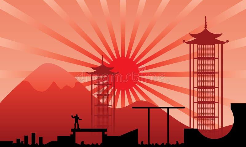 ninjabana stock illustrationer