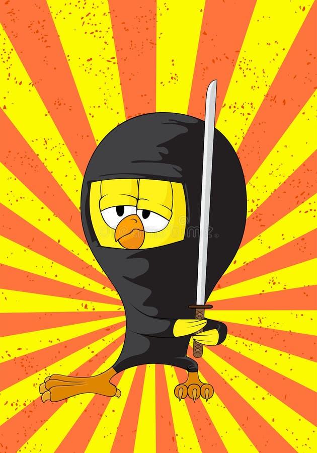 Ninjakuiken van het beeldverhaal stock illustratie