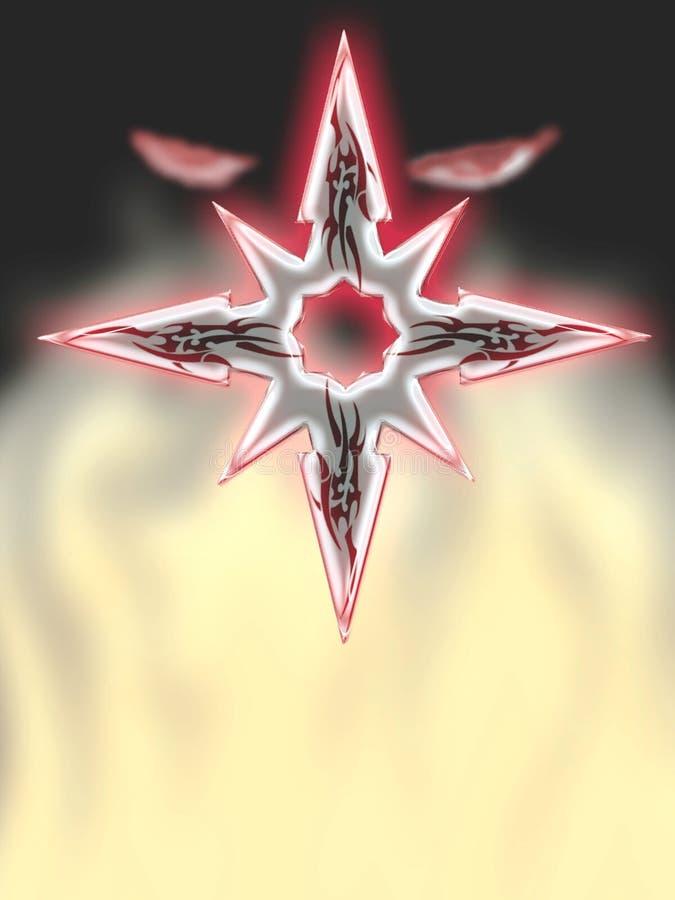 Ninjaogen van Shuriken royalty-vrije illustratie