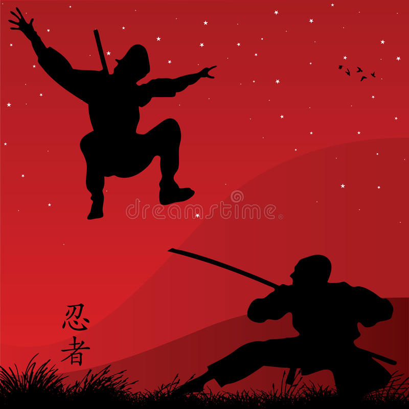 ninjas stock illustrationer
