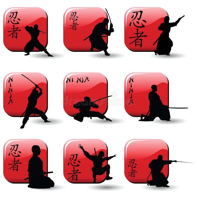ninjas stock illustrationer