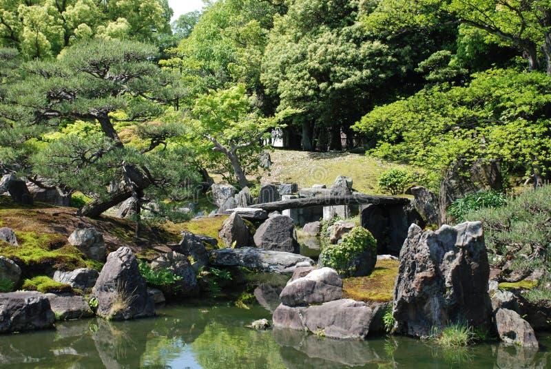 Ninomaru Gärten, Kansai lizenzfreies stockfoto