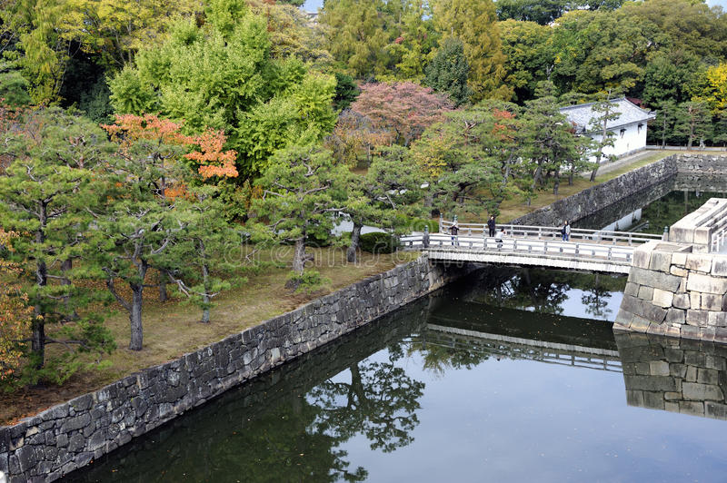Ninomaru garden in Kyoto stock photography