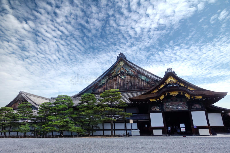 Ninomarupaleis van nijo-PB Kasteel, Kyoto, Japan royalty-vrije stock afbeeldingen