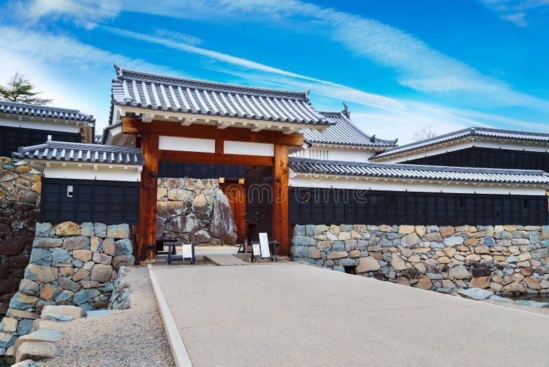 Ninomon (Binnenpoort) bij het Kasteel van Matsumoto in de Stad van Matsumoto, Nagano royalty-vrije stock fotografie