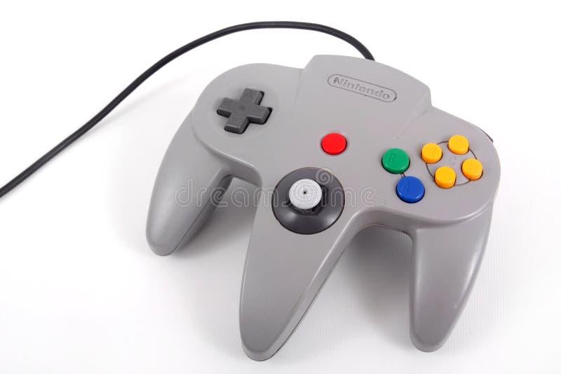 Nintendo 64 controlemechanisme royalty-vrije stock foto's