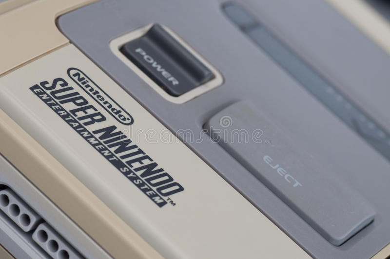 Nintendo estupenda (SNES) imagen de archivo