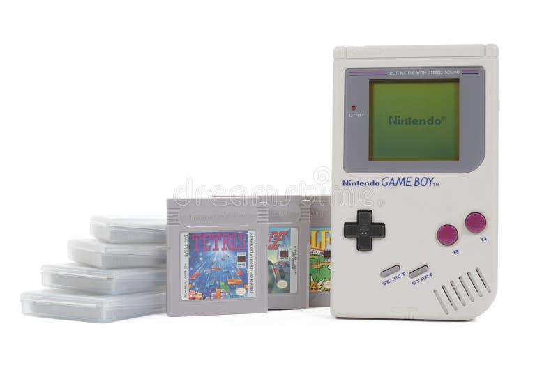 Nintendo Gameboy i Klasyczne gry obrazy stock