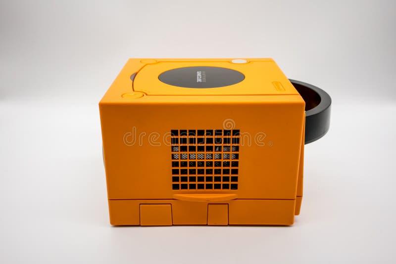 Nintendo Gamecube Console, Vintage portable game by Nintendo. stock photos