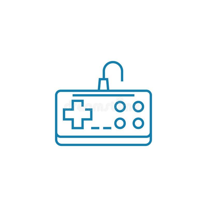 Nintendo gamepad linear icon concept. Nintendo gamepad line vector sign, symbol, illustration. Nintendo gamepad line icon, vector illustration. Nintendo gamepad royalty free illustration
