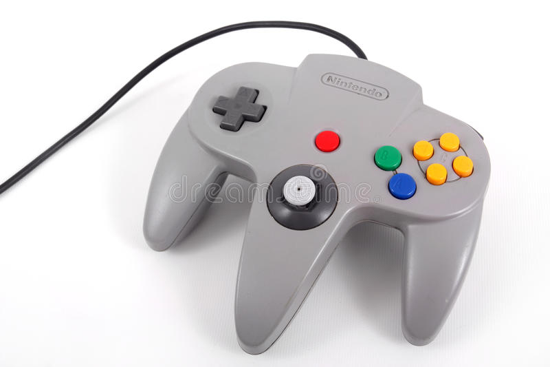 Nintendo 64 kontroler fotografia royalty free