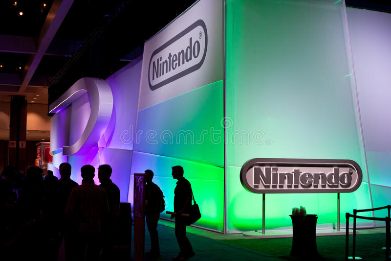 Nintendo's booth at E3 2011 royalty free stock photography