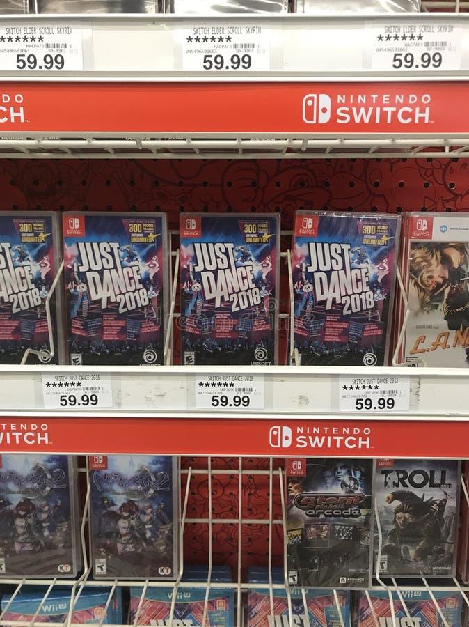 Nintendo-Schakelaar stock foto
