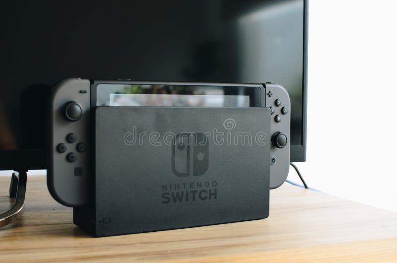 Nintendo-Schakelaar royalty-vrije stock fotografie