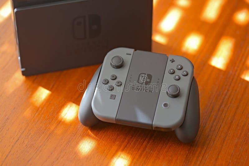 Nintendo-Schakelaarconsole stock fotografie
