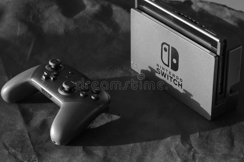 Nintendo-Schakelaarconsole royalty-vrije stock foto
