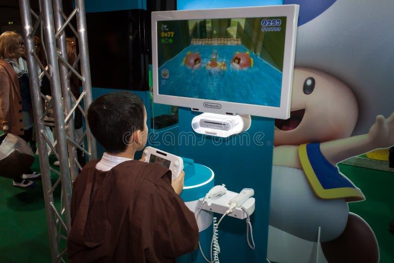 Nintendo stoi przy Cartoomics 2014 w Mediolan, Włochy zdjęcie stock