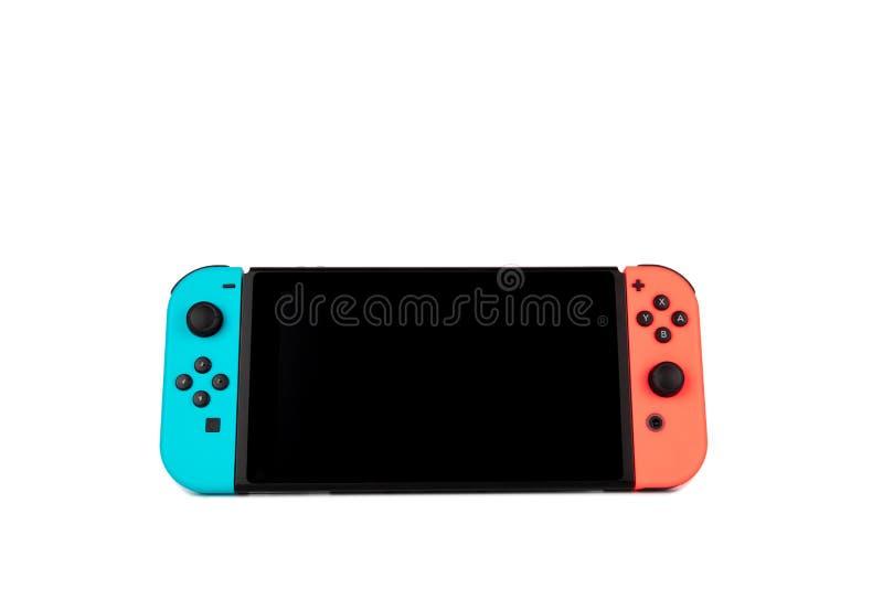 Nintendo Wyłacza przeciwu kontrolera na białym tle zdjęcia stock