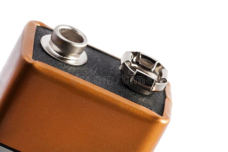 Nio volt batteri arkivfoto