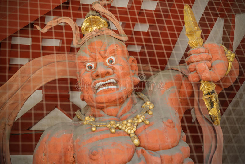 Nio (Welwillende Koningen) bij Shitennoji-Tempel in Osaka royalty-vrije stock afbeeldingen