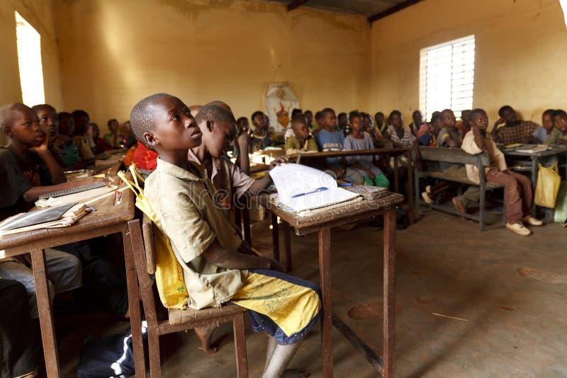 Classroom in Burkina Faso stock images