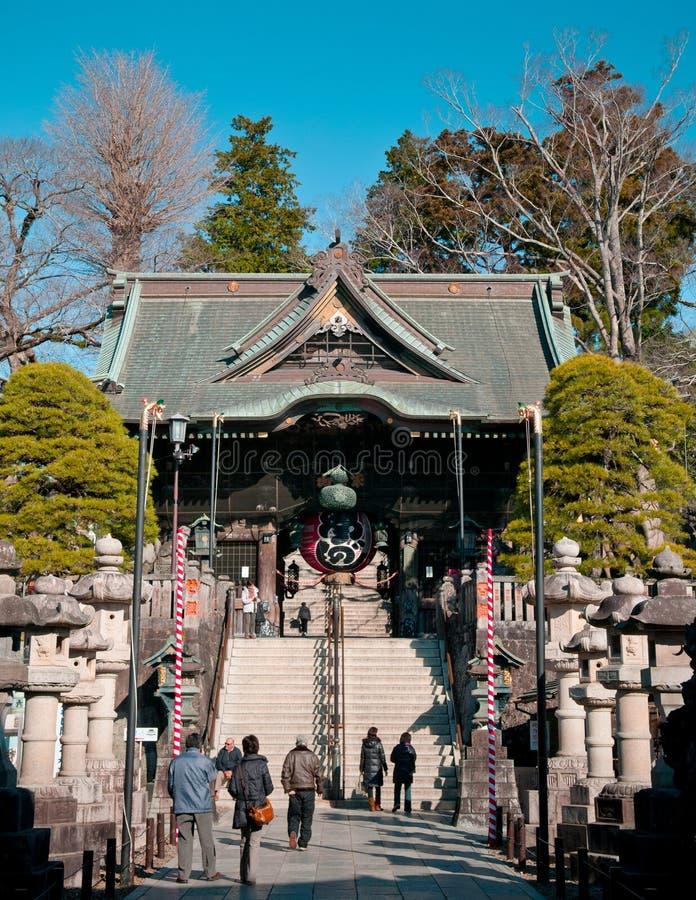 Niomonpoort bij Narita San Shinsho ji tempel, Narita, Chiba, Japa stock foto
