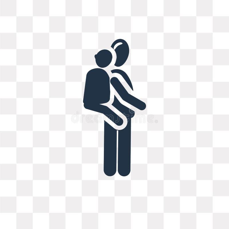 niosący dalej tylną wektorową ikonę odizolowywającą na przejrzystym tle, ilustracja wektor