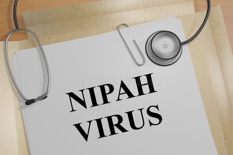 NIPAH病毒概念 库存例证