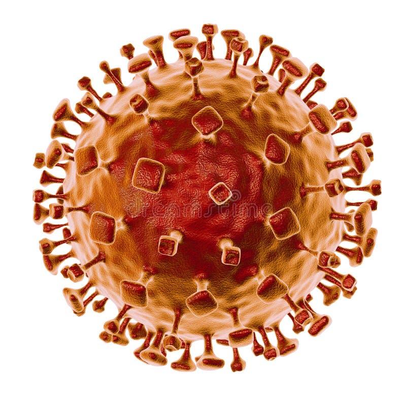 Nipahvirus, onlangs nieuwe zoonotic besmetting met ademhalingswanorde en hersenontsteking vector illustratie