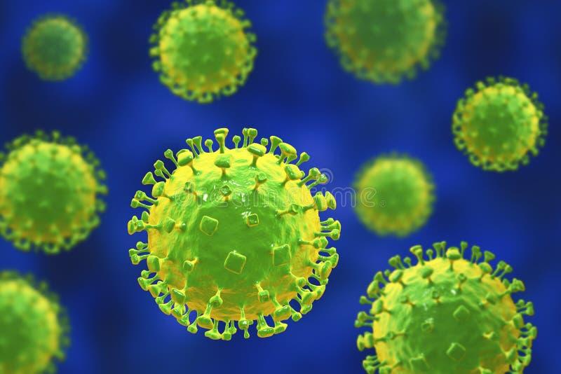 Nipahvirus, onlangs nieuwe zoonotic besmetting met ademhalingswanorde en hersenontsteking stock illustratie