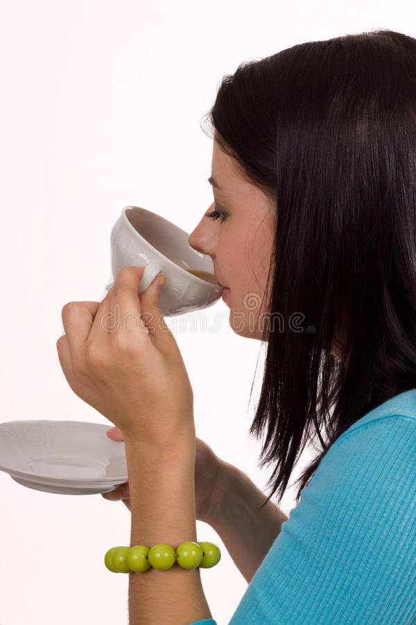 Nippende Thee of Koffie stock afbeelding