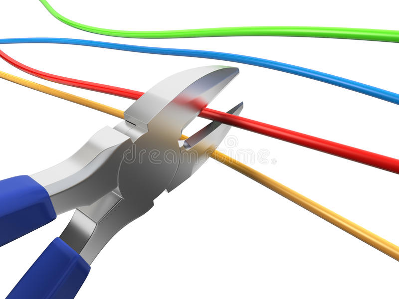 Nippers Cutting Wire Stock Photos