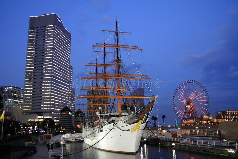 Nippon maru, sailing ship royalty free stock image