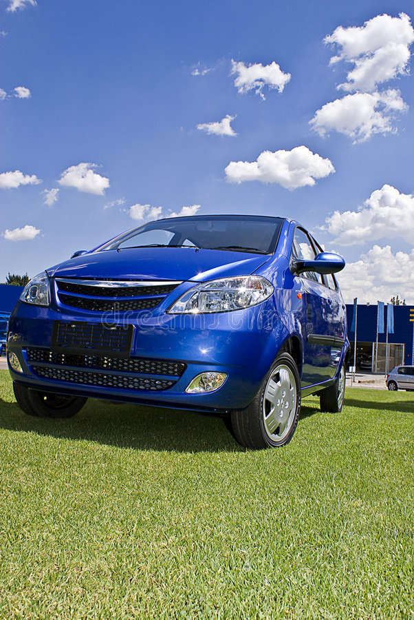 Download Nippy Blue Budget Hatch stock image. Image of grille, budget - 5322141
