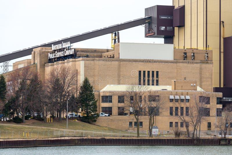 Nipsco kompleks w Michigan mieście, Indiana zdjęcia royalty free