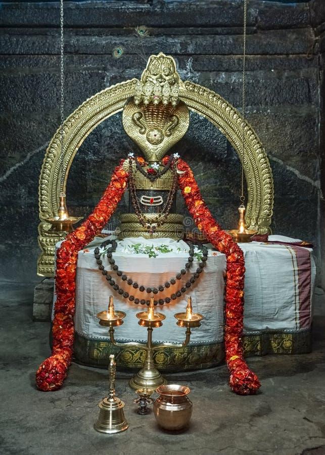 Niruthi Shiva Lingam в Thiruvannamalai стоковое фото rf