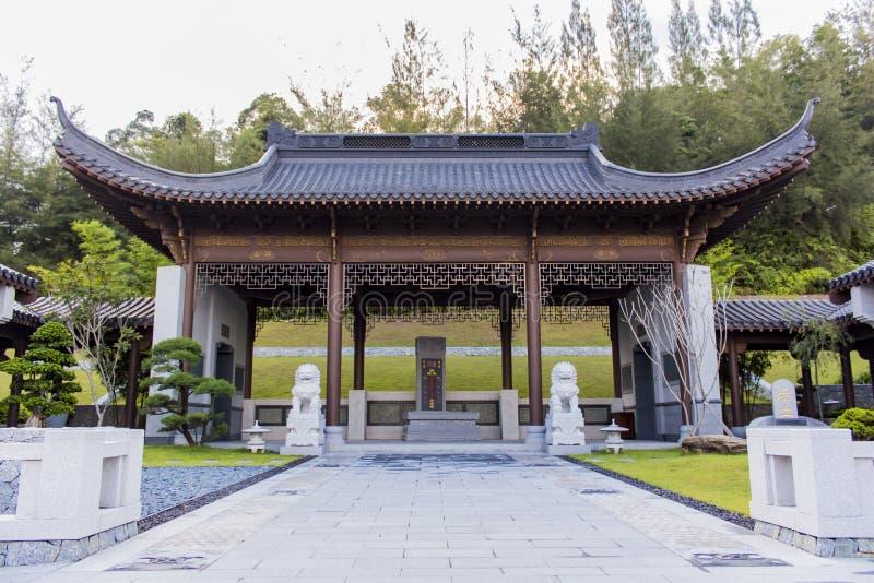Nirvana Memorial Park i Semenyih, Malaysia arkivfoton
