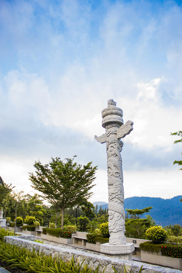 Nirvana Memorial Park in Semenyih, Malesia immagini stock libere da diritti