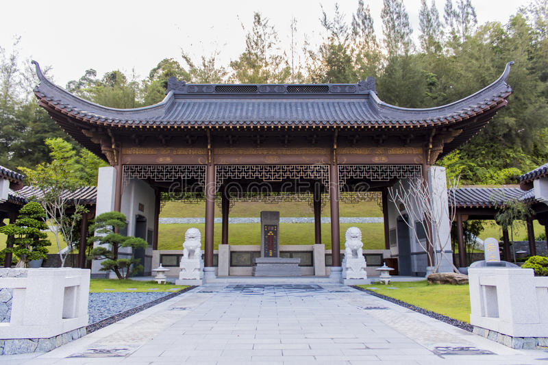 Nirwana Memorial Park in Semenyih, Malaysia stockfotos