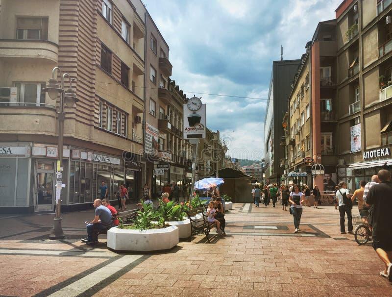 Nis-Stadtansicht lizenzfreies stockbild