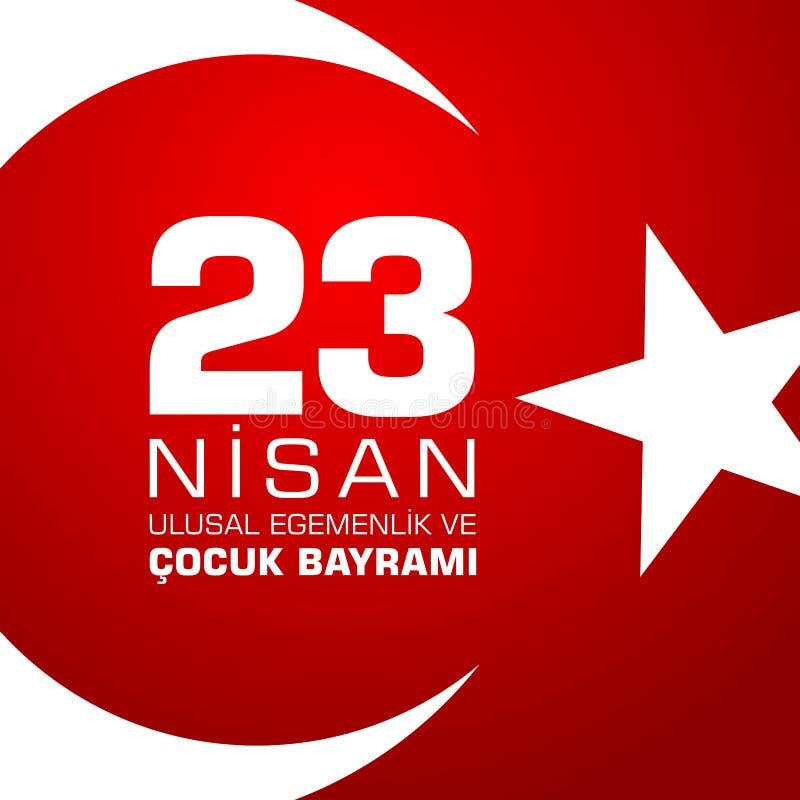 23 nisan cocuk baryrami. Translation: Turkish April 23 Childrens day. Vector illustration vector illustration