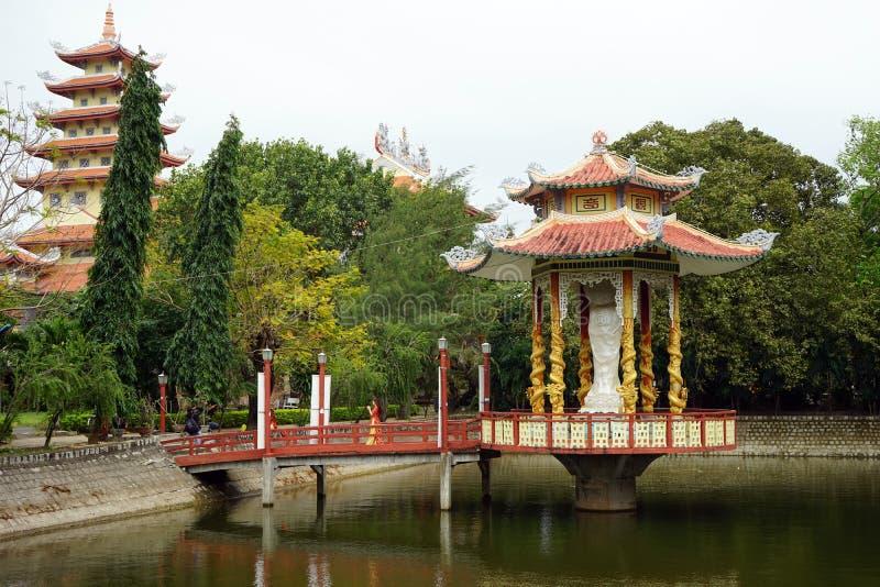 Nische im buddhistischen Kloster stockbild