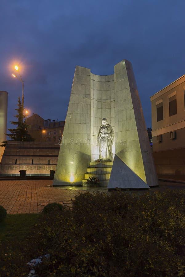 Nischni Nowgorod, RUSSLAND - 2. November 2015 Stella-Gedächtnispolizisten getötet in Tschetschenien auf Straße Maxim Gorky lizenzfreies stockfoto