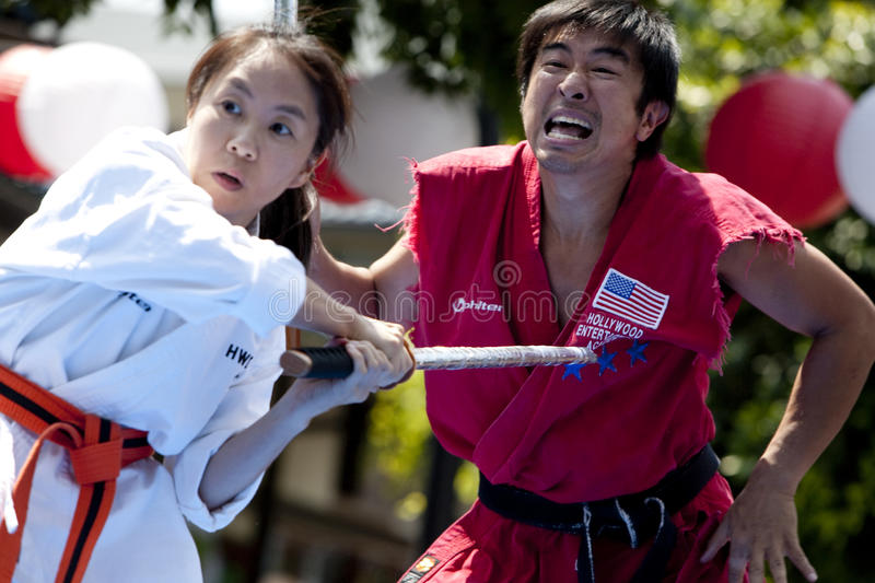 Download Nisei Week Martial Arts Demo Editorial Photography - Image: 10595982